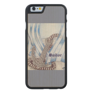 Celtic Anchor Nautical Choose Background Color Carved® Maple iPhone 6 Case