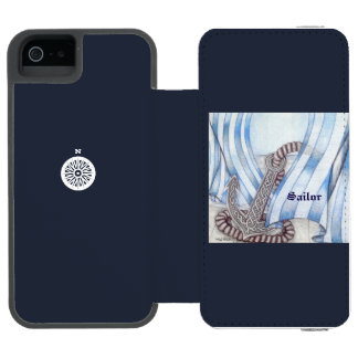 Celtic Anchor Nautical Choose Background Color Incipio Watson™ iPhone 5 Wallet Case