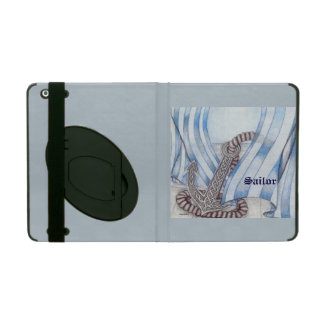 Celtic Anchor Nautical Choose Background Color iPad Cover