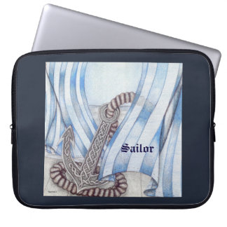 Celtic Anchor Nautical Choose Background Color Laptop Computer Sleeve