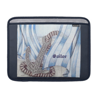Celtic Anchor Nautical Choose Background Color Sleeve For MacBook Air