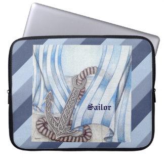Celtic Anchor Nautical Computer Sleeve