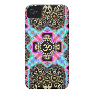 Celtic Arabesque Aum Gold Art Fusion iPhone 4 Case