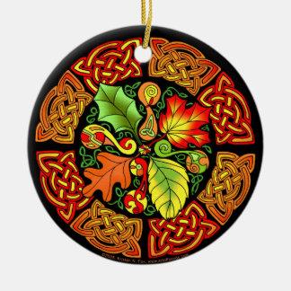 Celtic Autumn Leaves Ornament