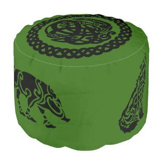 Celtic Bird In Celtic Knots Foot Rest Pouf