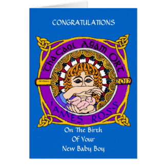 Celtic Birth Blessing greetings Card