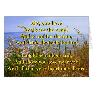 Celtic Blessing for Wedded Bliss Card
