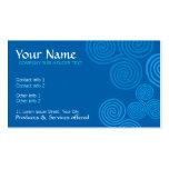 Celtic Blue Curl Swirl w- Logo Business Card