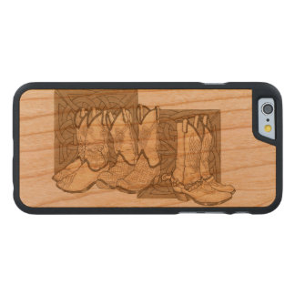 Celtic Boots Carved Cherry iPhone 6 Case