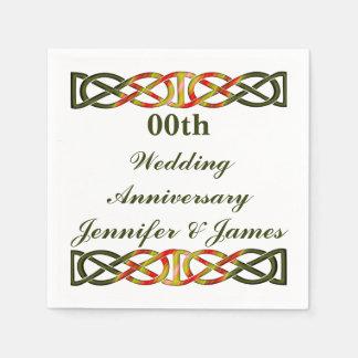 Celtic Braid Wedding Anniversary Napkin