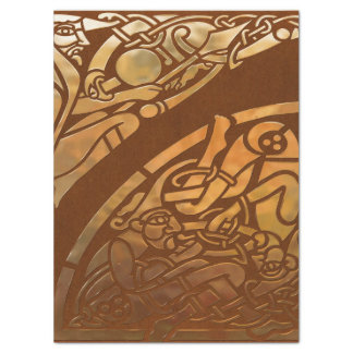 Celtic Brown Suade Tribal Art Tissue Paper