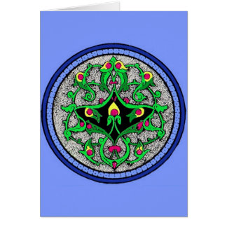 Celtic cartouche card