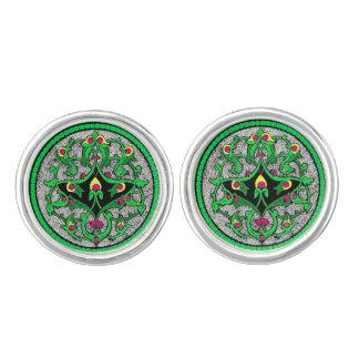 Celtic cartouche cufflinks