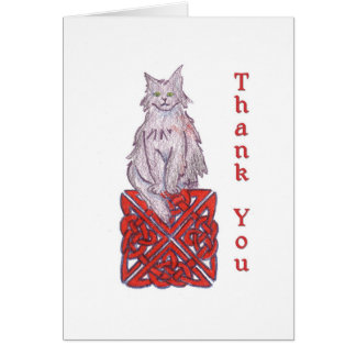 Celtic Cat Thank You Note Card