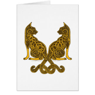 celtic cats 6 bronze gold card