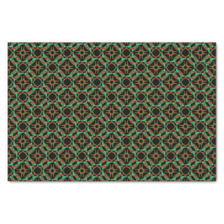 Celtic Christmas Holly Wreath Pattern Tissue Paper