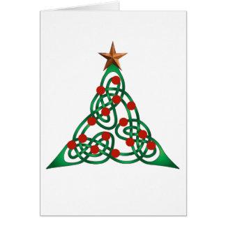 celtic Christmas tree Card