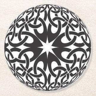 Celtic Circle Round Paper Coaster