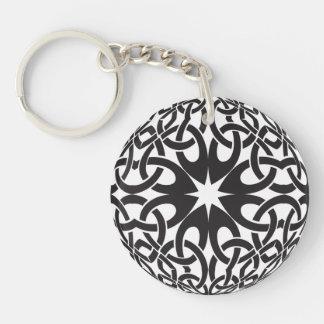 Celtic Circle Single-Sided Round Acrylic Keychain