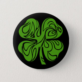 Celtic clover 2 inch round button