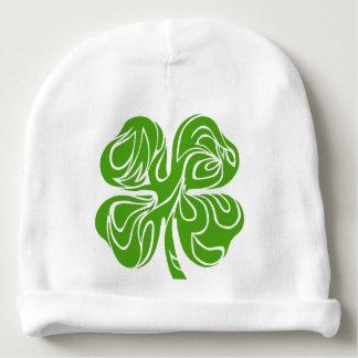 Celtic clover baby beanie