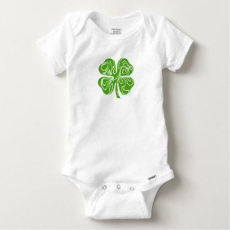 Celtic clover baby onesie