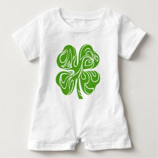 Celtic clover baby romper