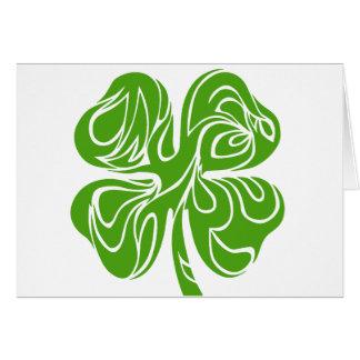 Celtic clover card