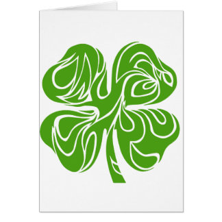 Celtic clover card