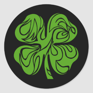 Celtic clover classic round sticker