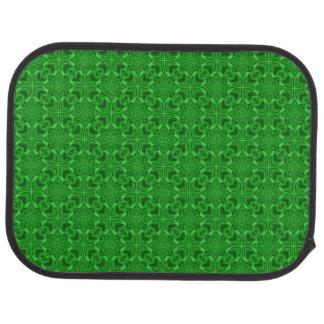 Celtic Clover Green Kaleidoscope Car Mats  rear