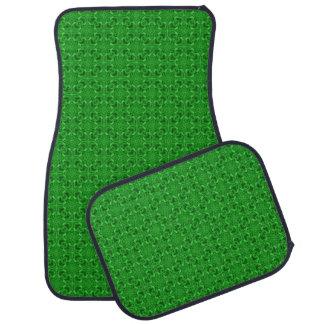 Celtic Clover Green Kaleidoscope Car Mats set of 4
