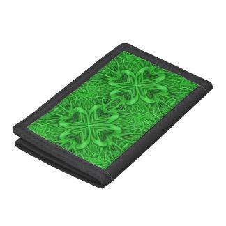 Celtic Clover Green Vintage Kaleidoscope Wallet