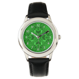 Celtic Clover Green   Vintage Kids Watch