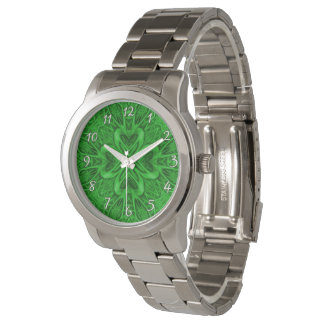 Celtic Clover Green   Vintage Mens Watch