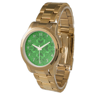 Celtic Clover Green  Vintage Womens Watch