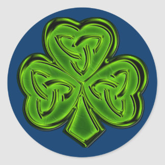 CELTIC CLOVER IRISH CLASSICS Collection Classic Round Sticker