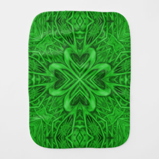 Celtic Clover Kaleidoscope Burp Cloth