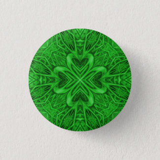 Celtic Clover Kaleidoscope Buttons And Pins