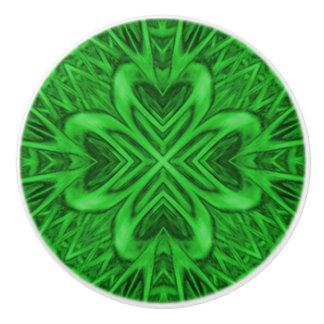 Celtic Clover Kaleidoscope Ceramic Knob