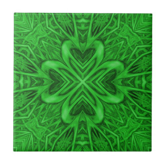 Celtic Clover Kaleidoscope Ceramic Tiles