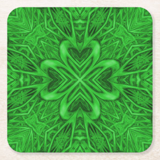 Celtic Clover Kaleidoscope Coasters