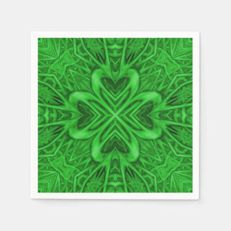 Celtic Clover Kaleidoscope Cocktail Napkins Disposable Napkin