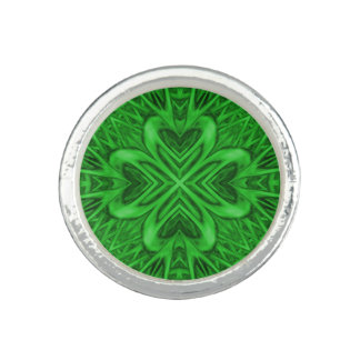 Celtic Clover Kaleidoscope Custom Rings