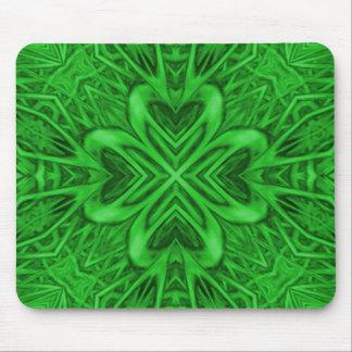 Celtic Clover Kaleidoscope Mousepad