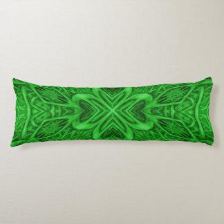 Celtic Clover Kaleidoscope Pattern Body Pillow