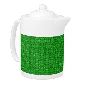 Celtic Clover Kaleidoscope  Pattern  Teapots