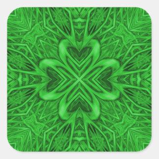 Celtic Clover Kaleidoscope Stickers