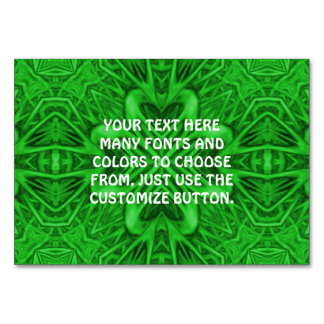 Celtic Clover Kaleidoscope   Tablecards Table Card