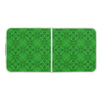 Celtic Clover Kaleidoscope Tailgate Pong Table